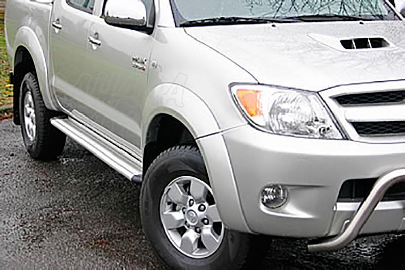 Estribos en plataforma de aluminio. Tipo S50 para Toyota Hilux Vigo 2005-2016 - Para Doble cabina