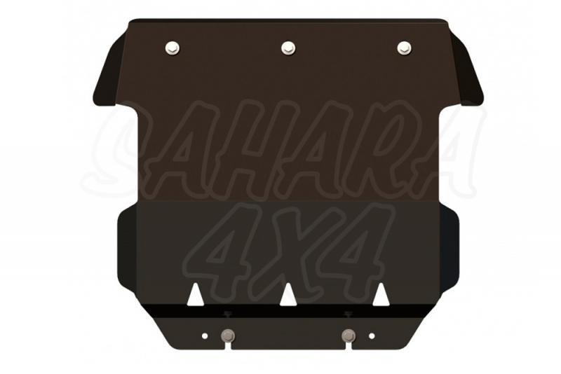 Protectores Sheriff Acero Negro 3mm Cherokee KJ - Fabricados en Acero