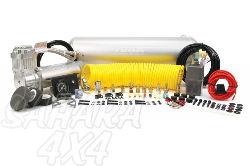 Kit Completo Viair Con Calderin 2.5G Constant Duty - Listo para montar , 150 PSI / 50.97 Litros/Min