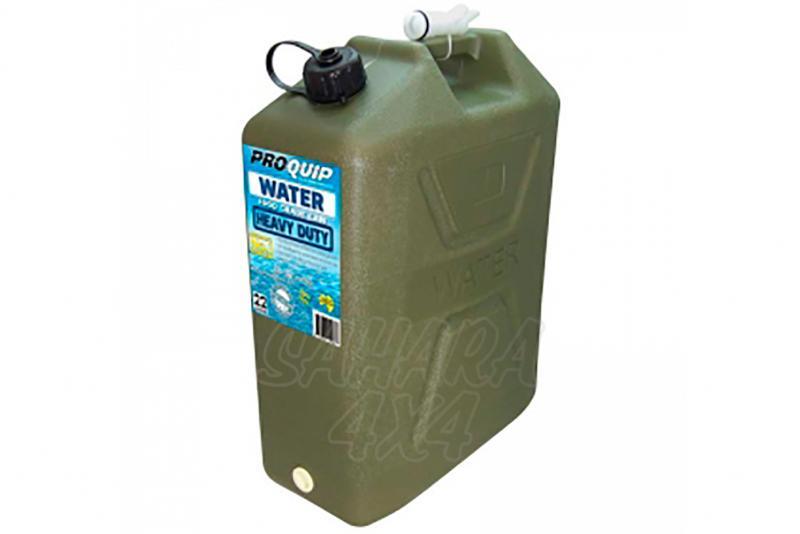 Bidon plastico 22 lt Pro Quip con grifo - Solo valido para agua.