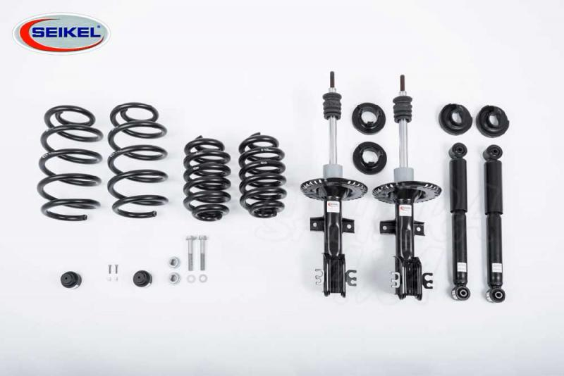 Kit suspension Seikel +30 mm con Monroe para VW T5 2003-2014 - Kit completo para VW T5