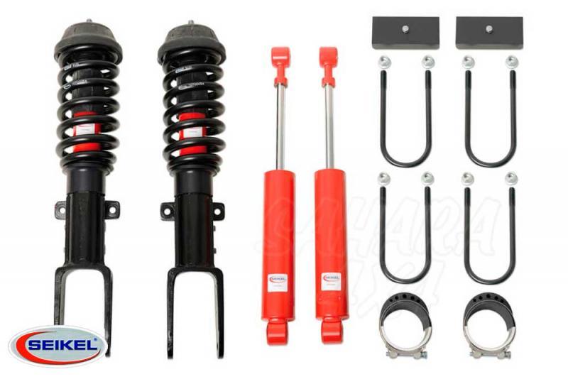 Kit de elevacion +25 mm Seikel con Koni Raid para VW Amarok