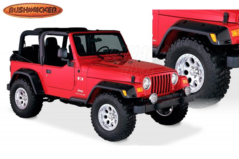 Aletines Bushwacker Cut Out 15.5/11.5 cm Wrangler TJ - Disponibles en 15.5 cm y en 11.5 cm replica Rubicon