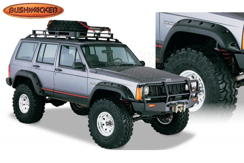 Aletines Bushwacker Cut Out 15.5 cm Cherokee XJ - Disponible para 2 y 4 puertas