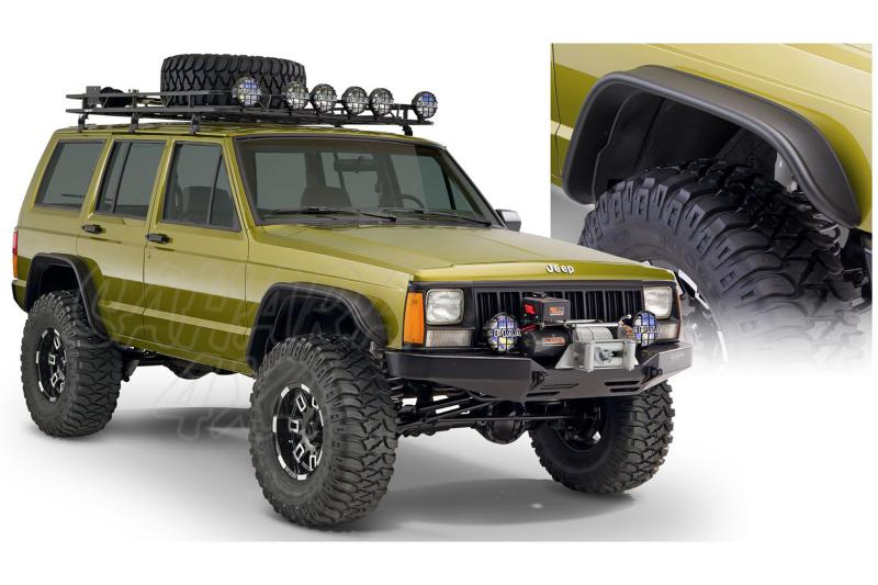 Aletines Bushwacker Flat Fender Style 11.5 cm Cherokee XJ  - Disponible para  4 puertas
