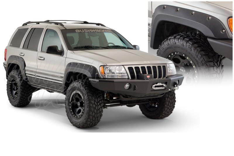 Aletines Bushwacker Cut Out 5 cm Grand Cherokee WJ/WG - Disponible para  4 puertas