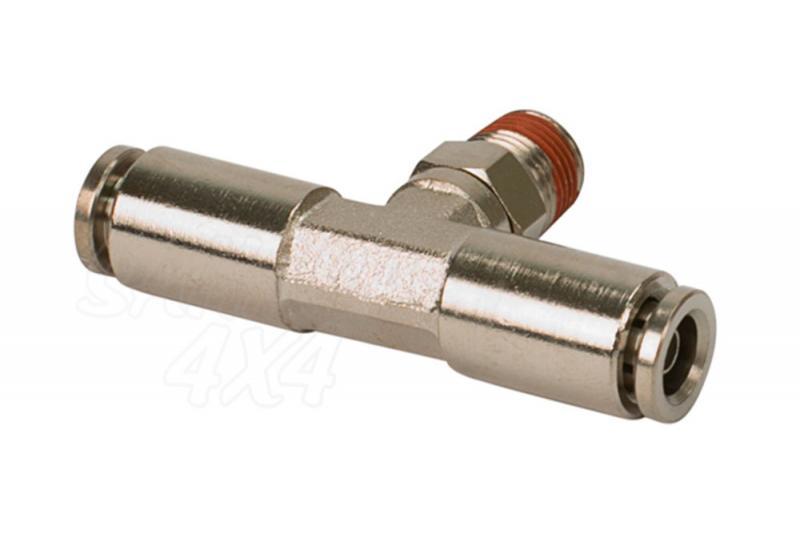 Conector T con rosca Macho de 1/4 para tube de 1/4 a 1/4