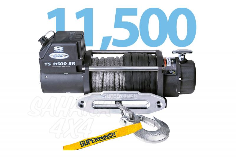 Superwinch Tiguer Shark 11.500lbs  5.216 Kg  Cable Sintetico - Cabrestante electrico a 12v o 24v.
