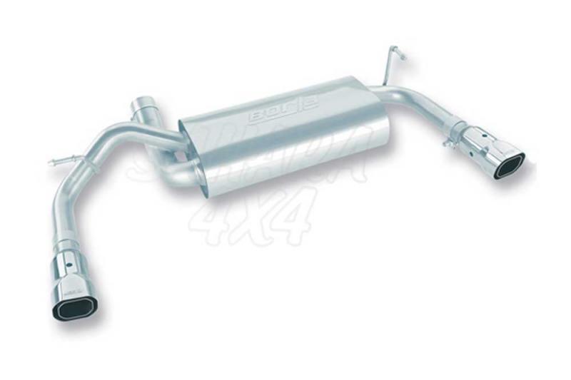 Silencioso Borla con tubo terminal  - Disponible con 1 o 2 salidas