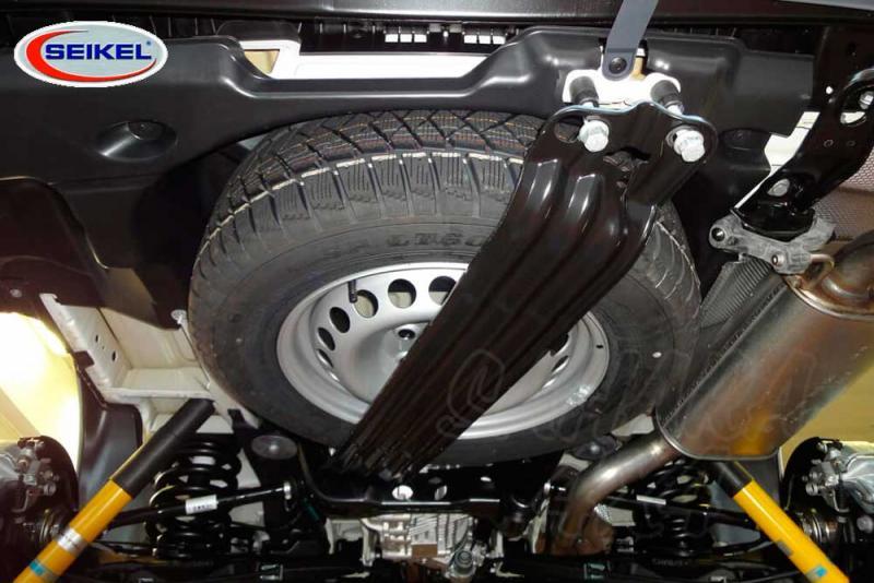 Soporte para rueda mas grande de recambio para VW T5 2003-2014