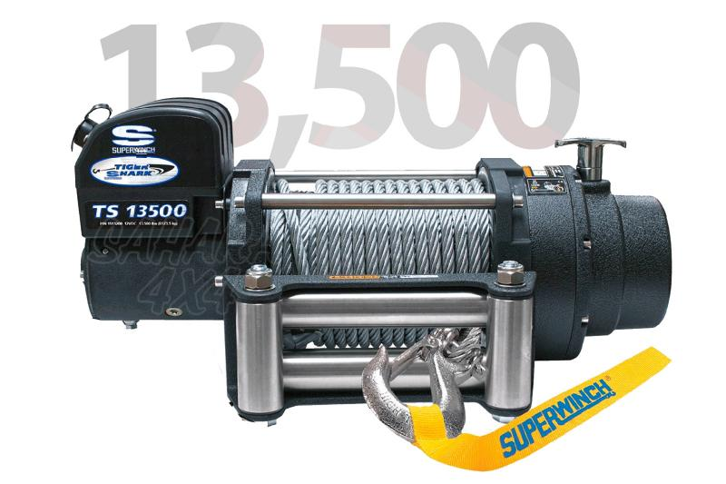 Superwinch Tiguer Shark 13.500lbs 6.124 Kg  - Cabrestante electrico a 12v o 24v.