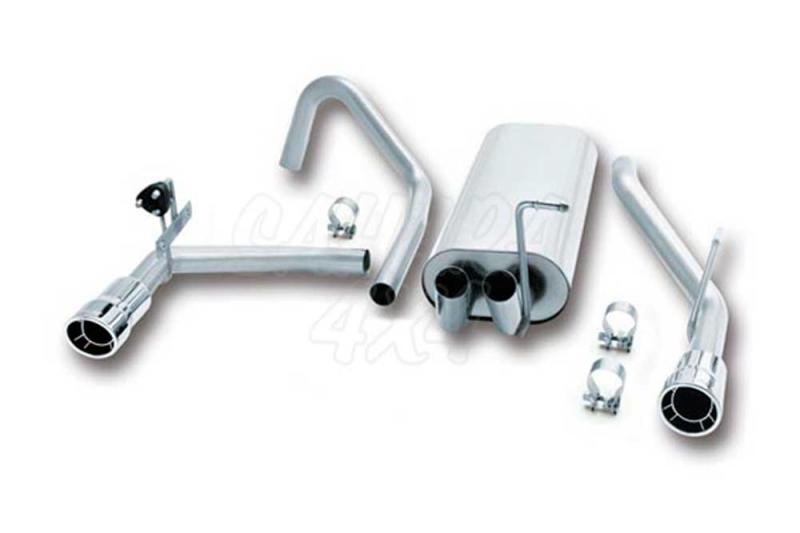 Silencioso Borla con tubo terminal - Solo para motor 3.7 Gasolina