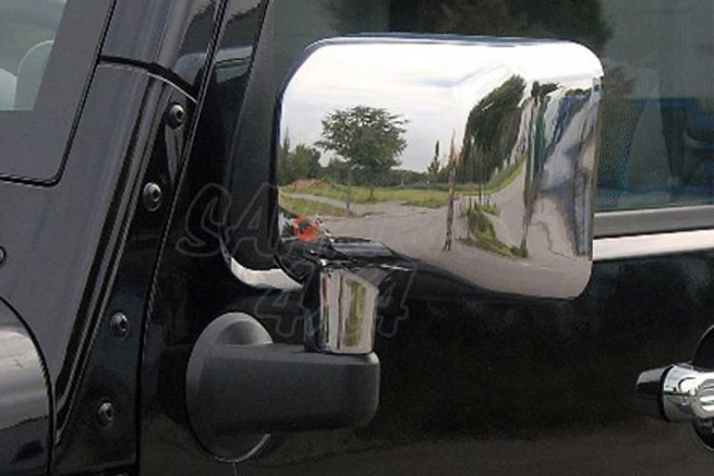 Proteccion espejo acabado plastico cromado Jeep Wrangler JK - Pareja
