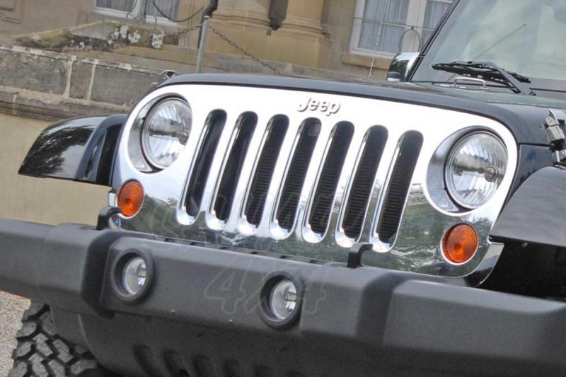 Proteccion Rejilla del Radiador Jeep Wrangler JK  - Seleccione el acabado