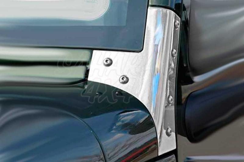 Soporte marco parabrisas acero Inoxidable Jeep Wrangler JK -