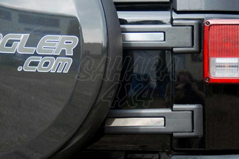Proteccion Bisagra acero inoxidable Jeep Wrangler JK - Pareja