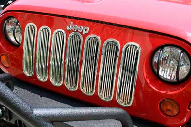 Proteccion Rejilla del Radiador plastico cromado Jeep Wrangler JK  - Seleccione el acabado