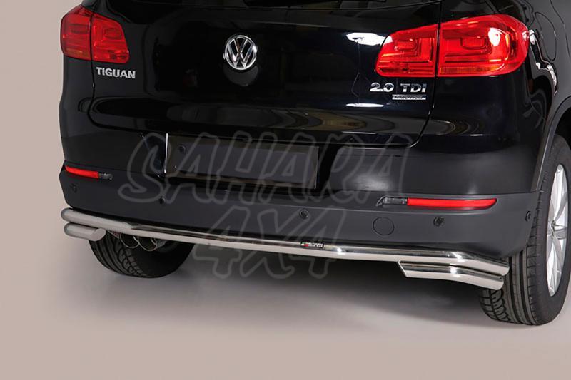 Protector de paragolpes trasero en tubo inox Ø50mm para Volkswagen Tiguan 2011- -