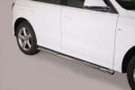 Pareja de estribos en tubo inox, sección oval, con pisantes. Tipo DSP para Land Rover Freelander II  - (Imagen no contra actual)
