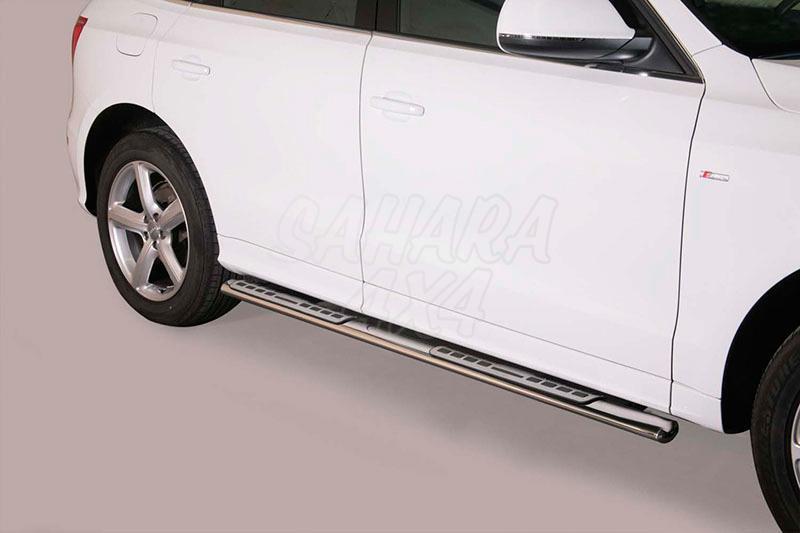 Pareja de estribos en tubo inox, sección oval, con pisantes. Tipo DSP para Dodge Nitro 2007- - (Imagen no contra actual)
