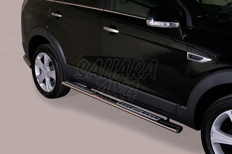 Pareja de estribos en tubo inox, sección oval, con pisantes. Tipo DSP para Citroën C-Crosser 2007- - (imagen no contra actual)