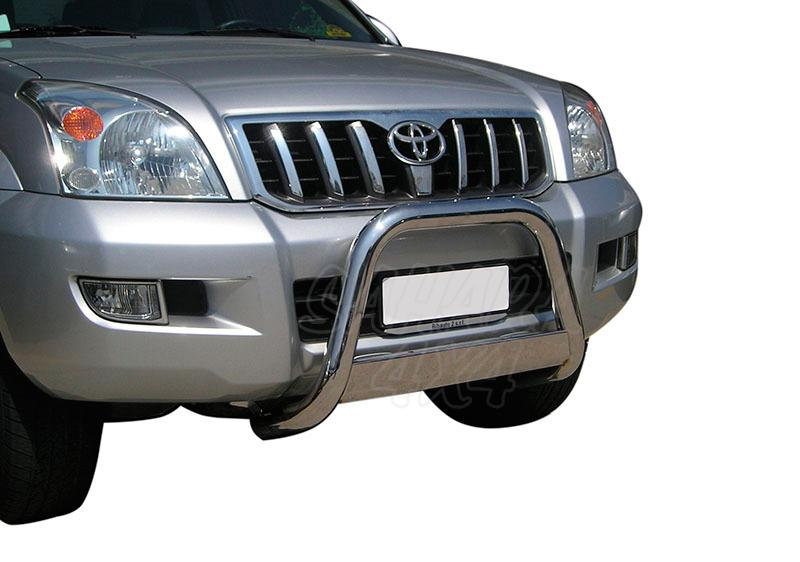 Defensa central inox Ø63mm con traviesa. Homologación CE para Toyota LandCruiser KDJ120/125 -
