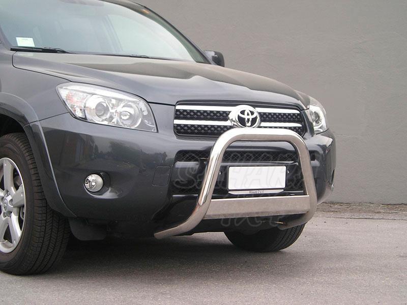 Defensa central inox Ø63mm con grabación. Homologación CE para Toyota Rav4 2006-2009 -