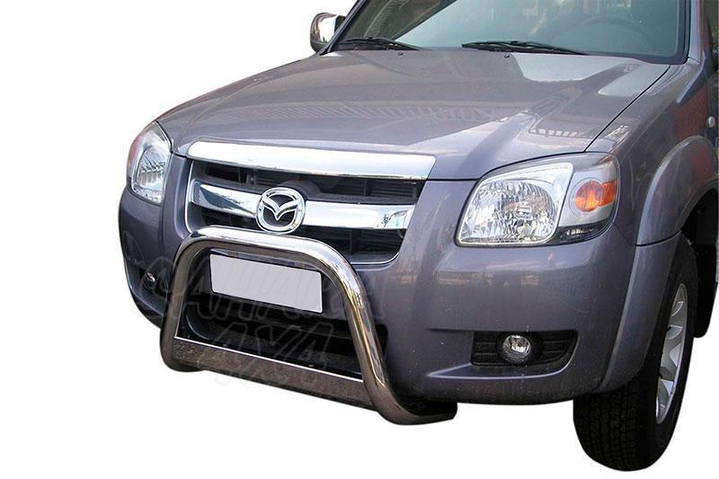 Defensa central inox Ø63mm con traviesa. Homologación CE para Mazda BT-50 2006-2009 -
