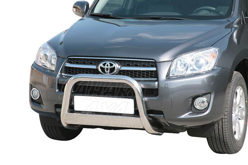 Defensa central inox Ø63mm con traviesa. Homologación CE para Toyota Rav4 2009-2010 -