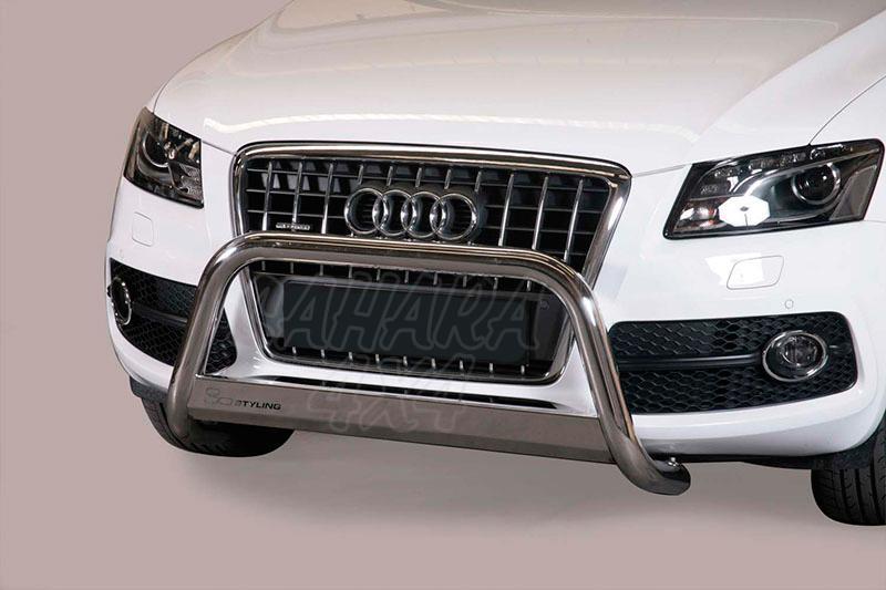 Defensa central inox Ø63mm con traviesa. Homologación CE para Audi Q5 2008-2014 -