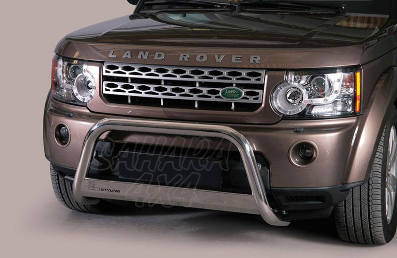 Defensa central inox Ø63mm con traviesa. Homologación CE para Land Rover Discovery IV  -