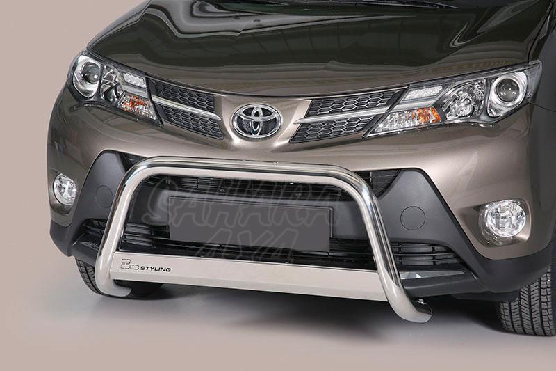 Defensa central inox Ø63mm con traviesa. Homologación CE para Toyota Rav4 2013-2016 -