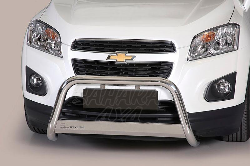 Defensa central inox Ø63mm con traviesa. Homologación CE para Chevrolet Trax 2013- -