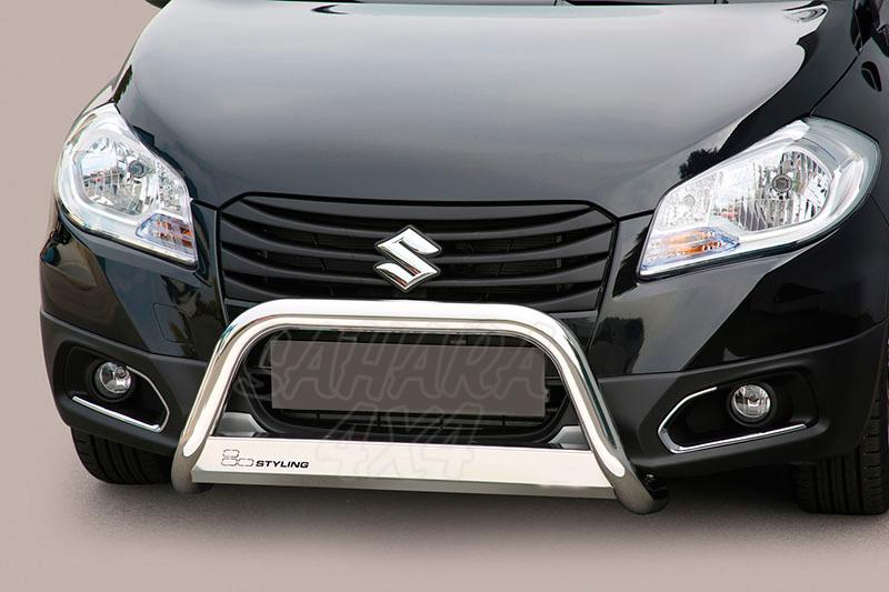 Defensa central inox Ø63mm con traviesa. Homologación CE para Suzuki SX4 S-Cross 2013- -