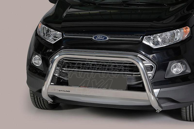Defensa central inox Ø63mm con traviesa. Homologación CE para Ford EcoSport 2014- -