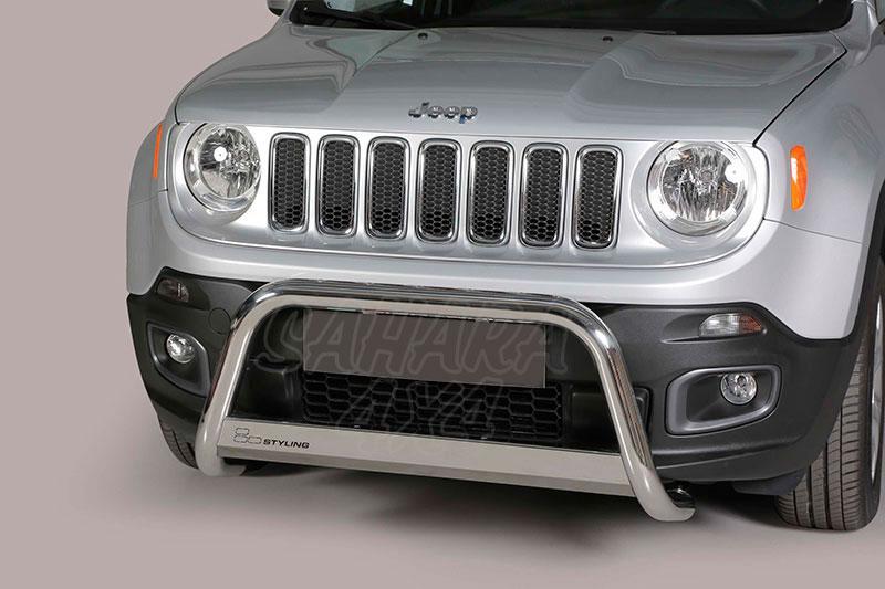 Defensa central inox Ø63mm con traviesa. Homologación CE para Jeep Renegade 2014- -