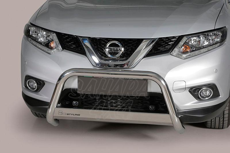Defensa central inox Ø63mm con traviesa. Homologación CE para Nissan X-Trail 2014- -