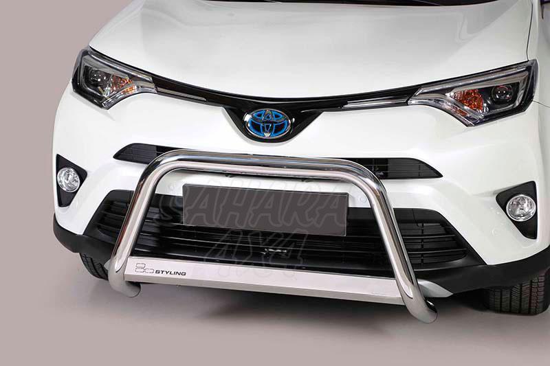 Defensa central inox Ø63mm con traviesa. Homologación CE para Toyota Rav4 2016- - Compatible Rav4 Hybrid