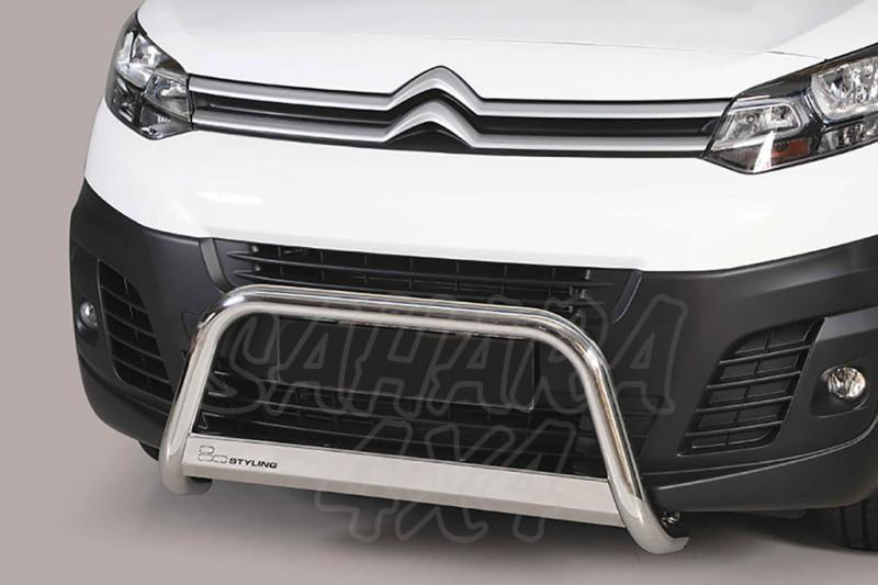 Defensa central inox Ø63mm para Citroën Jumpy 2016-