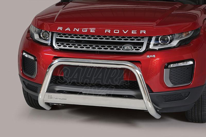 Defensa central inox Ø63mm con traviesa. Homologación CE para Range Rover Evoque 2016- -