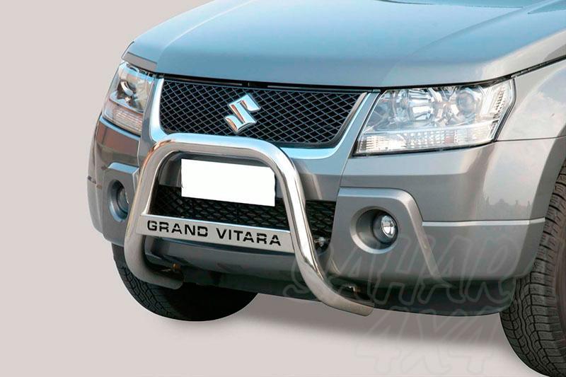 Defensa central inox Ø63mm con grabación. Homologación CE para Suzuki Grand Vitara -
