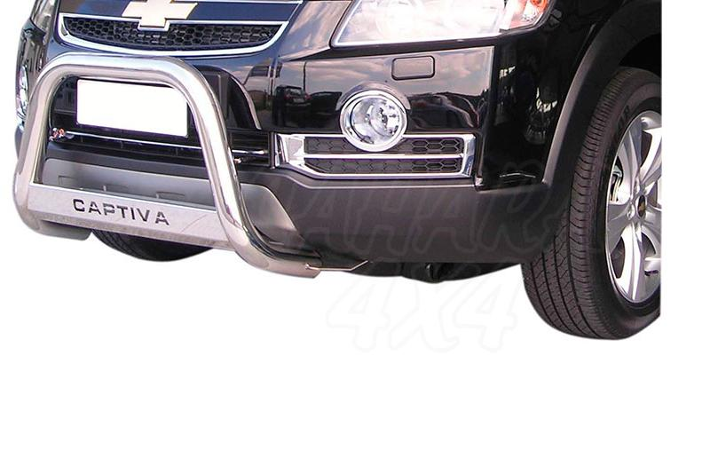 Defensa central inox Ø63mm con grabado para Chevrolet Captiva 2006-2010