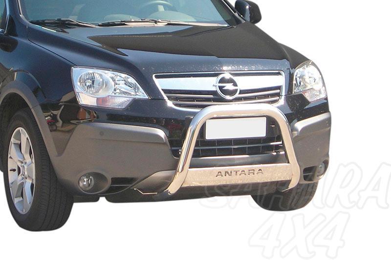 Defensa central inox Ø63mm con grabado. Homologación CE para Opel Antara 2007-2011 -