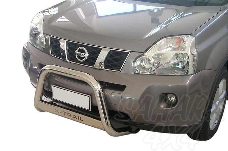 Defensa central inox Ø63mm con grabado. Homologación CE para Nissan X-Trail 2007-2010 -