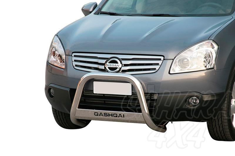 Defensa central inox Ø63mm con grabado para Nissan Qashqai +2 2008-2010