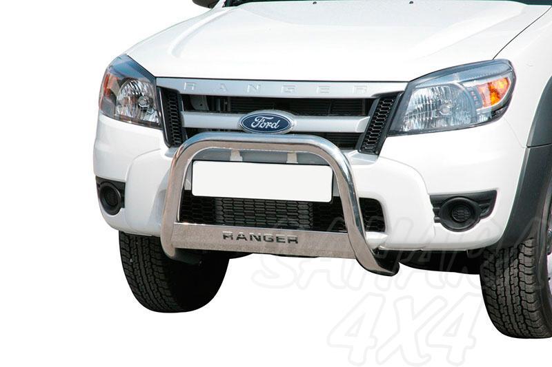 Defensa central inox Ø63mm con grabado para Ford Ranger 2009-2012 -