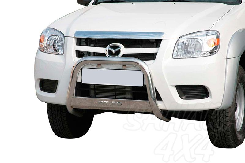 Defensa central inox Ø63mm con grabado para Mazda BT-50 2009-2012 - Homologación CE