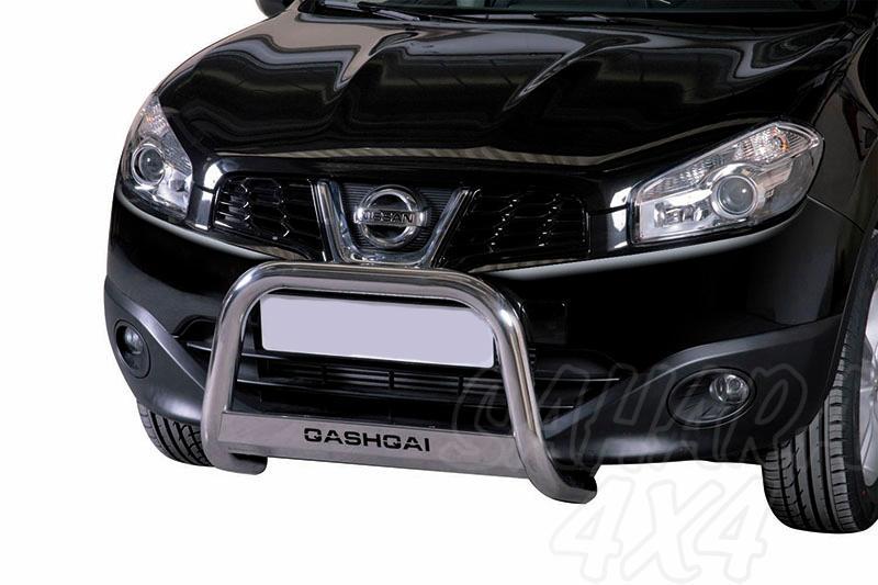 Defensa central inox Ø63mm con grabado. Homologación CE para Nissan Qashqai 2010-2014 -