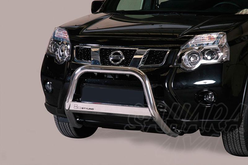 Defensa central inox Ø63mm con grabado. Homologación CE para Nissan X-Trail 2010-2014 -
