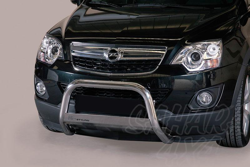 Defensa central inox Ø63mm con grabado. Homologación CE para Opel Antara 2011- -